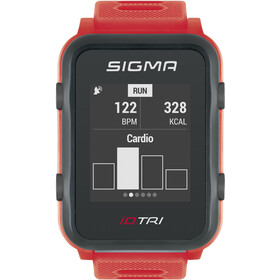 SIGMA SPORT iD.TRI Basic Multi-Sport Watch, neon red